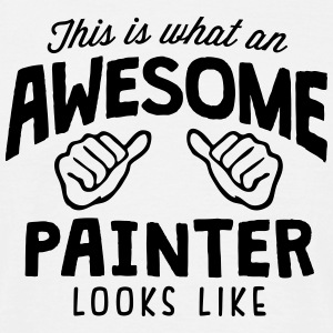 awesome painter looks like - Men's T-Shirt
