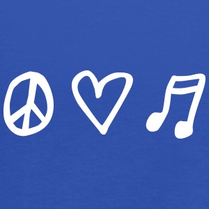 LOVEshirt Peace, love & music - Frauen Tank Top von Bella