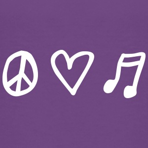 LOVEshirt Peace, love & music - Teenager Premium T-Shirt