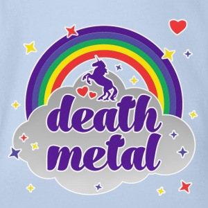 Death Metal Rainbow T-Shirts - Baby Bio-Kurzarm-Body
