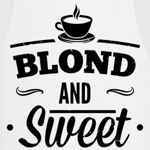 Blonde and sweet coffee 1  Aprons - Cooking Apron