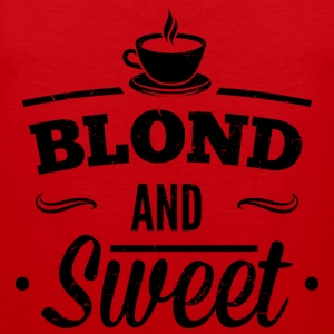 Blonde and sweet coffee 1 dd Tank Tops - Men's Premium Tank Top