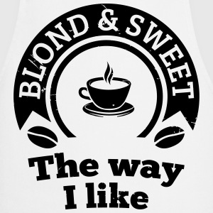 Blonde and sweet coffee 2  Aprons - Cooking Apron