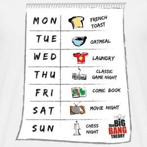 The Big Bang Theory Sheldon's calendar Herre T-Shi - T-skjorte for menn