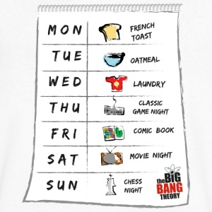 The Big Bang Theory Sheldons kalender mannen T-shi - Mannen T-shirt met V-hals