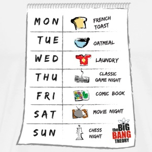 The Big Bang Theory Sheldon's calendar Herre T-Shi - Herre premium T-shirt