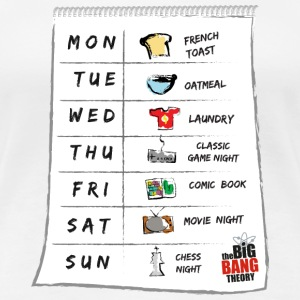 The Big Bang Theory Sheldon's calendar Dam T-Shirt - Premium-T-shirt dam