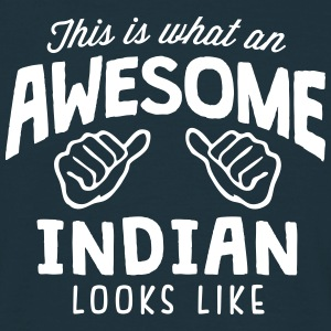 awesome indian looks like - Men's T-Shirt
