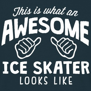awesome ice skater looks like - Men's T-Shirt