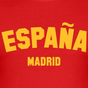 SPANIEN MADRID - Männer Slim Fit T-Shirt