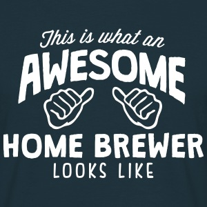 awesome home brewer looks like - Men's T-Shirt