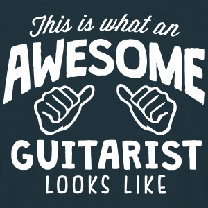 awesome guitarist looks like - Men's T-Shirt