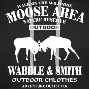 Fighting Moose  Sweat-shirts - Sweat-shirt à capuche Premium pour hommes