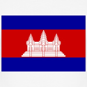 National flag of Cambodia T-Shirts - Men's Slim Fit T-Shirt