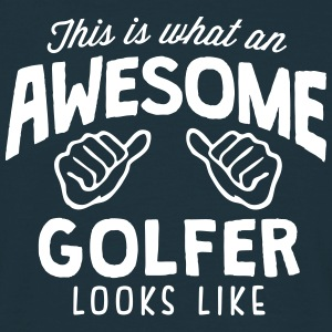 awesome golfer looks like - Men's T-Shirt