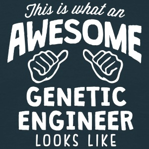 awesome genetic engineer looks like - Men's T-Shirt