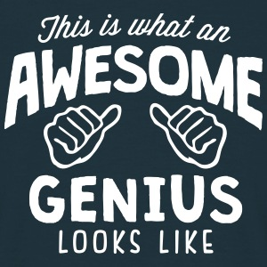 awesome genius looks like - Men's T-Shirt