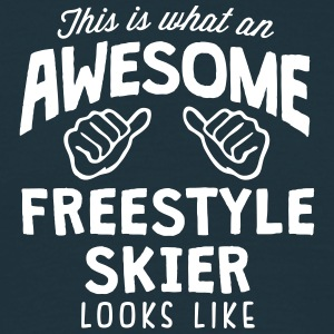 awesome freestyle skier looks like - Men's T-Shirt