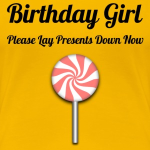 Birthday Girl Black on Yellow - Frauen Premium T-Shirt