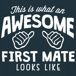 awesome first mate looks like - Men's T-Shirt