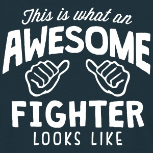 awesome fighter looks like - Men's T-Shirt