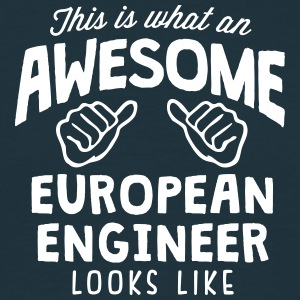 awesome european engineer looks like - Men's T-Shirt