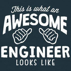 awesome engineer looks like - Men's T-Shirt
