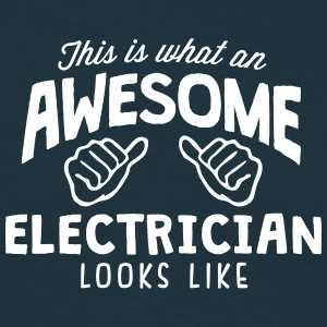 awesome electrician looks like - Men's T-Shirt