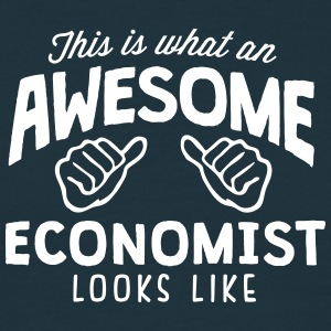 awesome economist looks like - Men's T-Shirt