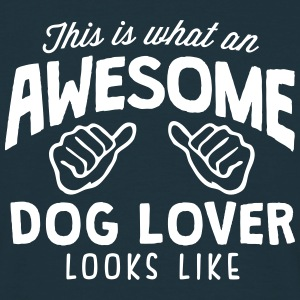 awesome dog lover looks like - Men's T-Shirt