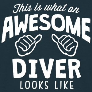 awesome diver looks like - Men's T-Shirt