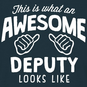 awesome deputy looks like - Men's T-Shirt