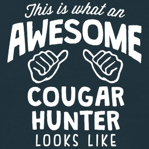 awesome cougar  looks like - Men's T-Shirt