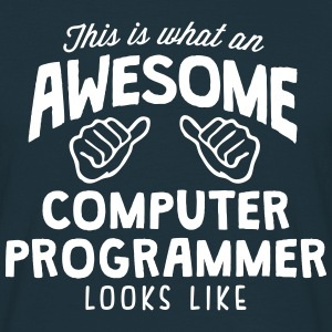 awesome computer programmer looks like - Men's T-Shirt