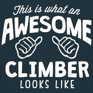 awesome climber looks like - Men's T-Shirt
