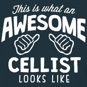 awesome cellist looks like - Men's T-Shirt