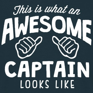 awesome captain looks like - Men's T-Shirt