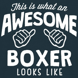 awesome boxer looks like - Men's T-Shirt
