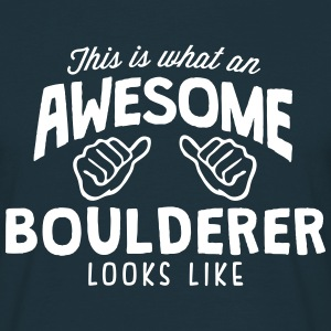 awesome boulderer looks like - Men's T-Shirt