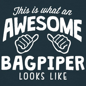 awesome bagpiper looks like - Men's T-Shirt