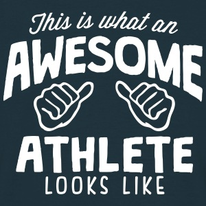 awesome athlete looks like - Men's T-Shirt