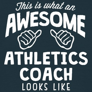 awesome athletics coach looks like - Men's T-Shirt