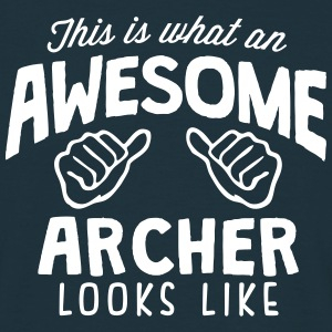 awesome archer looks like - Men's T-Shirt