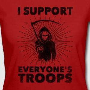 I Support Everyone's Troops (Political /Statement) Magliette - T-shirt ecologica da donna