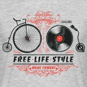 Heather grey Free-Life-Style Cycling T-Shirt - Men's T-Shirt