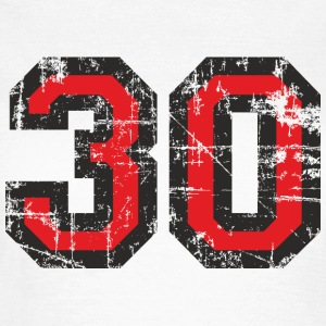Number 30 Thirty 30th Birthday Design T-Shirts - Women's T-Shirt