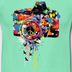 Dunkle Minze splattered camera T-Shirts - Männer T-Shirt