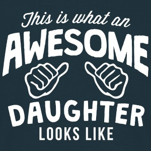 this is what an awesome daughter looks l - Men's T-Shirt