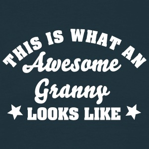 this is what an awesome granny looks lik - Men's T-Shirt