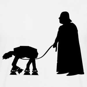 Darth Vader with pet AT-AT (Star Wars) - Men's T-Shirt